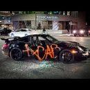 В США протестующие изувечили Porsche 911 GT3 RS (ВИДЕО)