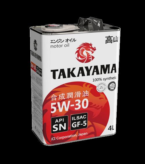 Моторные масла TAKAYAMA: ресурс двигателя больше, расход топлива меньше