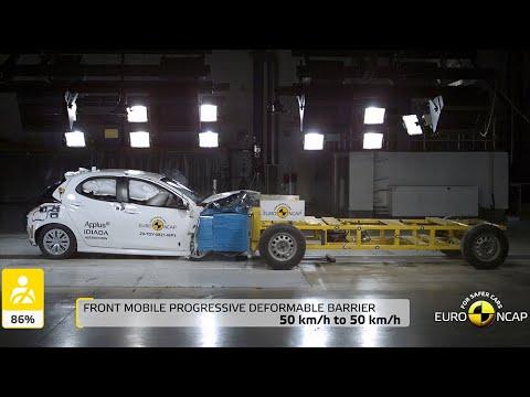 Toyota Yaris взяла пять звезд в краш-тесте по новым правилам EuroNCAP