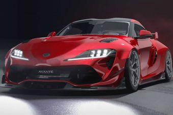 Ателье Avante Design разработало яркий комплект тюнинга для Toyota Supra