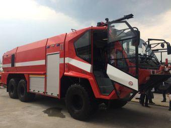Брянский автозавод представил новую пожарную машину для аэродромов