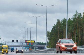 Количество участков на трассе «Нева» с лимитом 130 км/ч увеличат