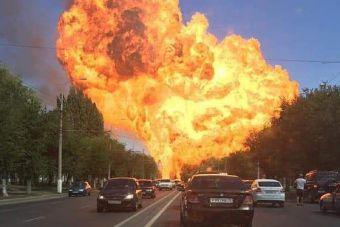 ВИДЕО: взрыв на автозаправке в Новосибирске