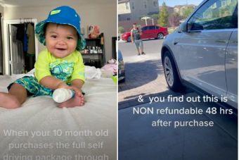 В США малыш, играя с телефоном, накупил обновлений для Tesla более чем на $10 тысяч