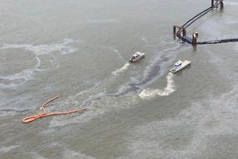 Из затонувшего судна с тысячами пикапов и внедорожников вытекают нефтепродукты (ВИДЕО)