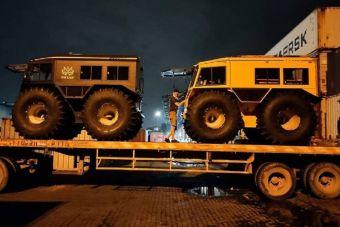 ФОТОФАКТ: российские вездеходы Шерп начинают продавать и в Индии
