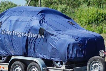 Странный автомобиль вывезли из НТЦ АвтоВАЗа (ФОТО)