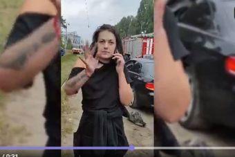 ВИДЕО: в Липецке устроившая ДТП женщина с заплетающимся языком станцевала на камеру