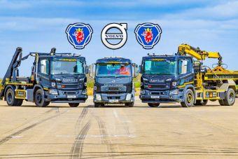 ВИДЕО: драг-рейсинг на мусоровозе, самосвале и бетононасосе