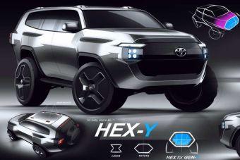 Toyota показала, какие варианты дизайна рассматривала для Land Cruiser 300