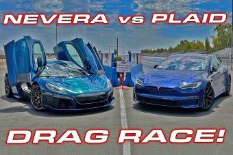 ВИДЕО: гиперкар Rimac против самой мощной Tesla Model S