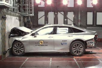 Euro NCAP испытала пять машин, в том числе Subaru Outback, Toyota Mirai и несколько «китайцев»