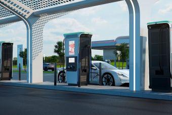 В Европе установили станцию, которая заряжает электромобиль за 15 минут