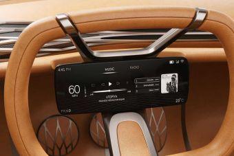 Hyundai работает над рулем со встроенным экраном