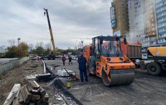 В Иркутске готовят к асфальтированию отремонтированный путепровод на Джамбула